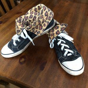 Coach converse-like leopard print high tops